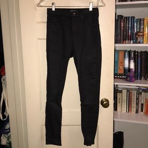 TOPSHOP Coated Jeans Jamie Moto W28L30